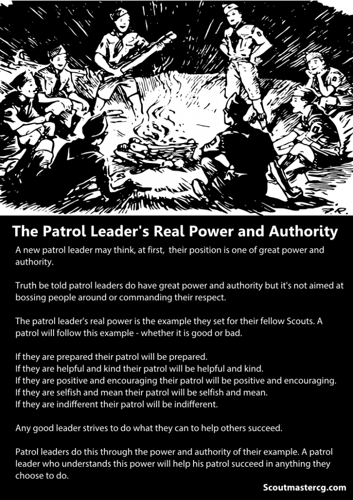 patrol leader authority infographic