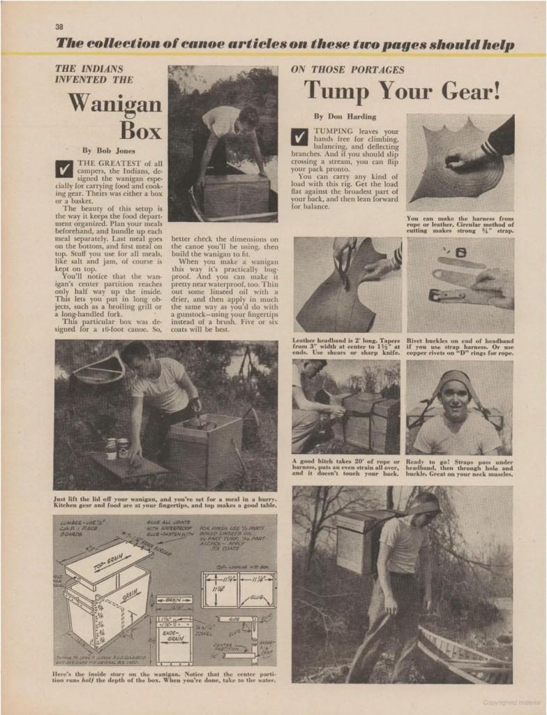 Wanigan - Boys Life July 1953