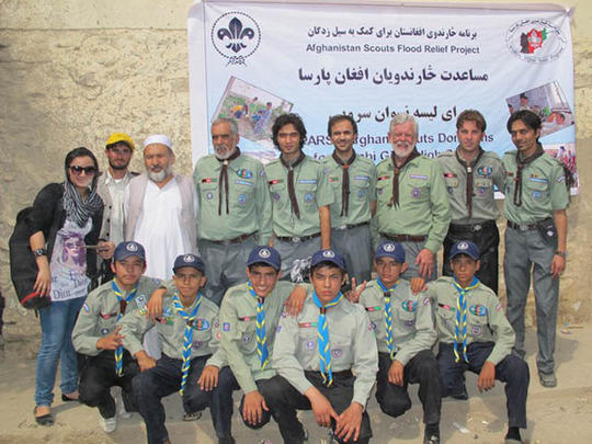 Afghan Scouts Flood Relief Project